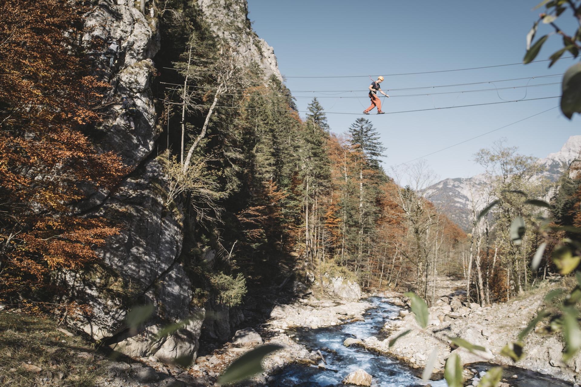 Klettersteig Johnsbach : Alpinpark im nationalpark gesäuse in der steiermark